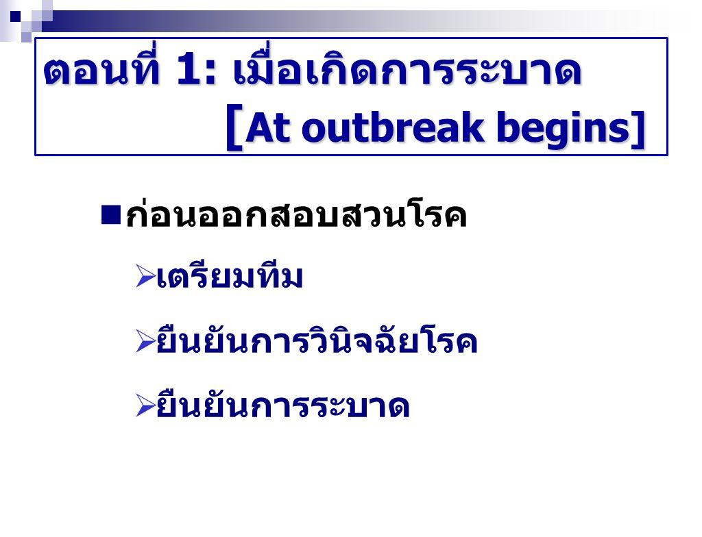 ตอนที่ 1: เมื่อเกิดการระบาด [At outbreak begins]